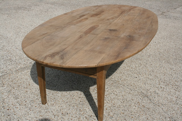 Antique Pale Oval Table