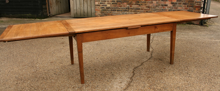 Antique Cherry Double Drawer-leaf Table