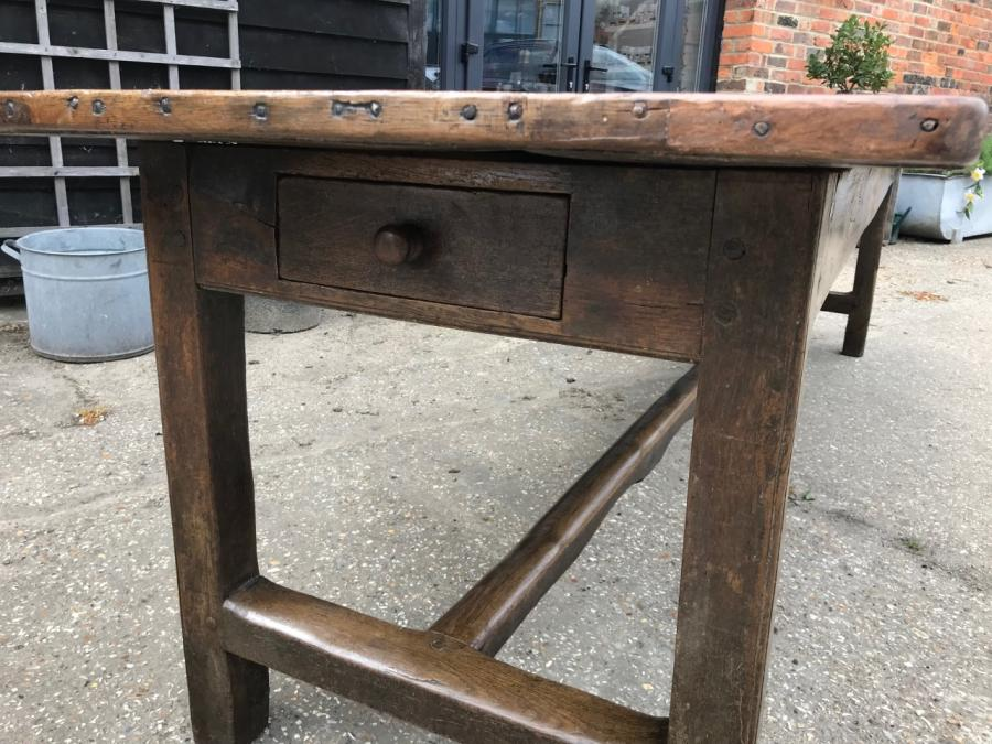 18th Century English Oak Refectory Table