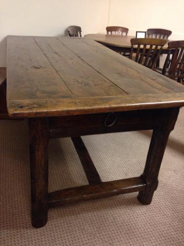 18th Century original cherry refectory table
