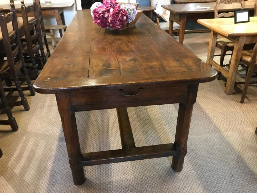 18th Century Two Drawer Refectory Table