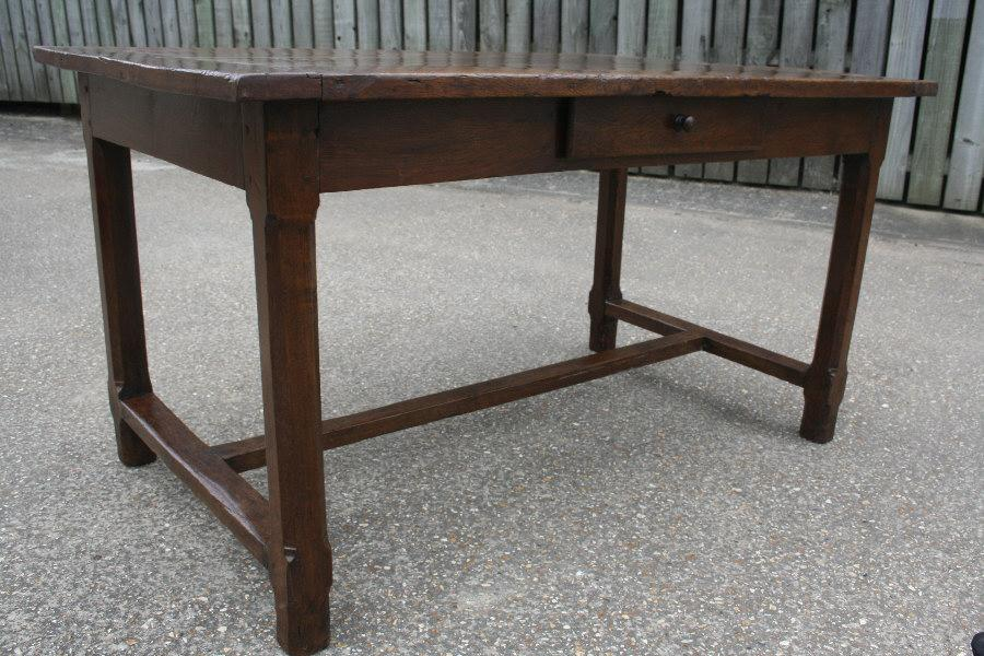 19th C 4'5 Oak Dining Table
