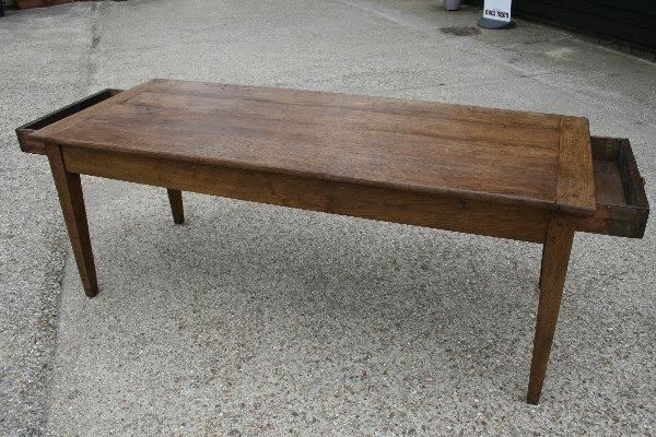 19th C Oak Rustic French Farm Table