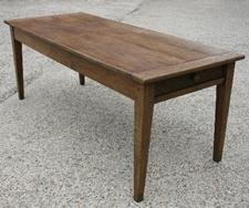 19th C Oak rustic French farm table