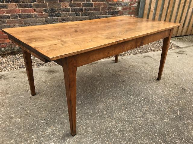 19th Century Ash Farmhouse Dining table with slide
