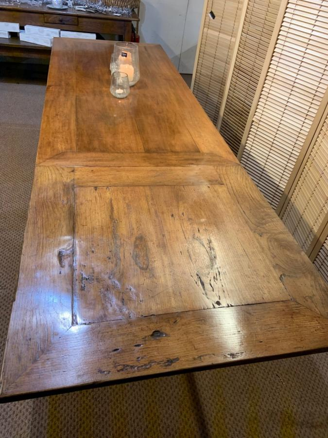 19th Century Cherry Double Extending Table