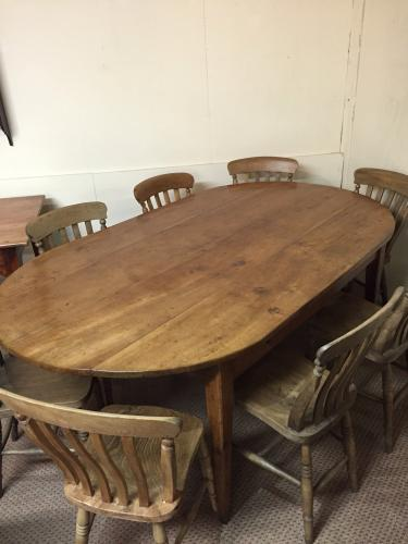 19th Century oval table (kitchen or dining)