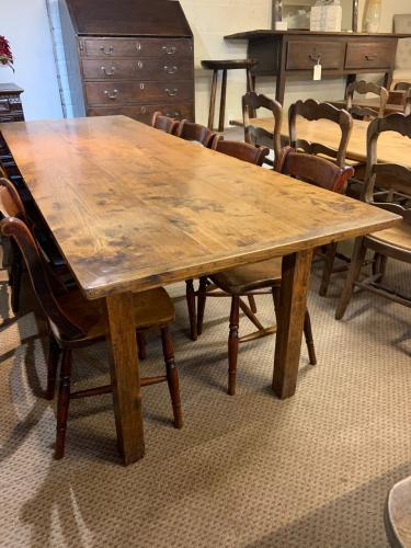 19th Century Elm Farmhouse Table