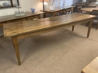 19th Century Oak Rustic Large Farmhouse Table