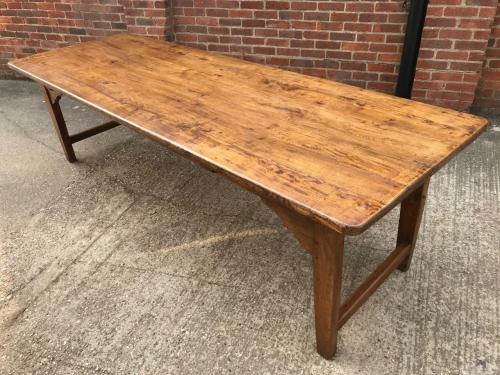 19th Century Large Elm Farmhouse Table