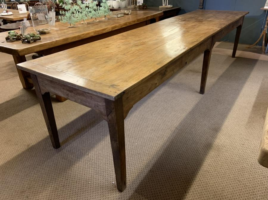 19th Century Large Farmhouse Table