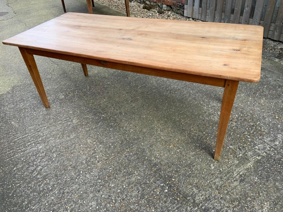 19th Century Pale Wide Cherry Dining table