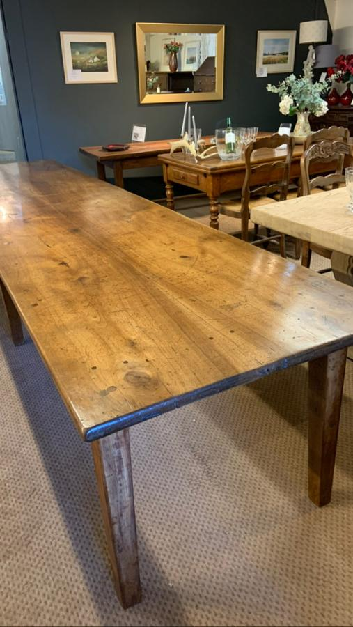19th Century Rare Two Plank Walnut Farmhouse Table