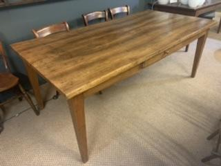 19th Century Rare Wide Antique Walnut Table