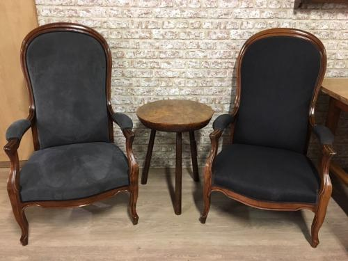 Two french Cherry Arm Chairs