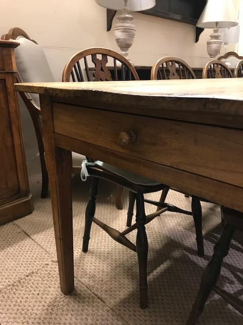 Large 3m Chestnut Antique Table