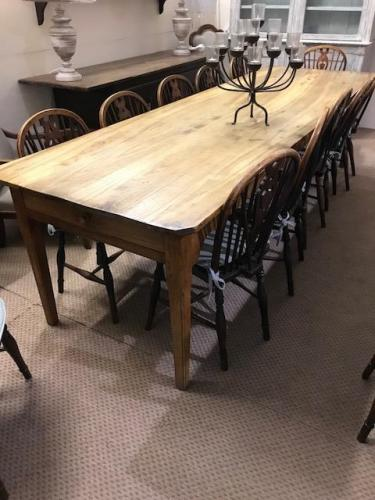 3m Chestnut antique large farmhouse table