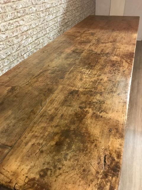 Large Rustic French farmhouse table with character