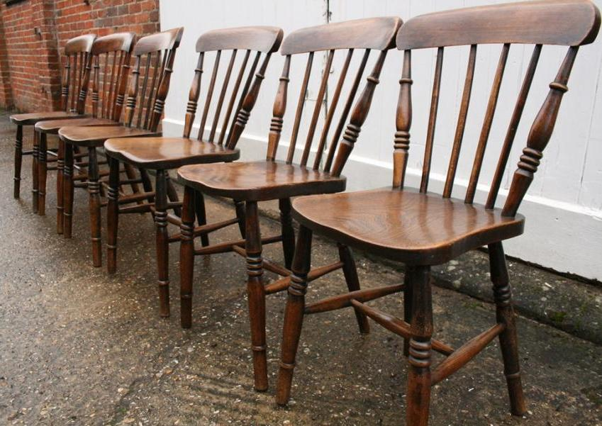 6 x Spindleback chairs - 6 X Spindleback Chairs, Spindle Back Chairs - Chairs & Benches