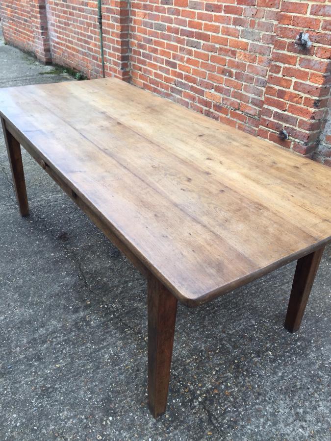 6ft 10 Quot Antique Pale Oak Farmhouse Table French