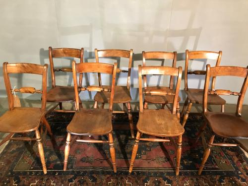 8 Antique Oxford dining chairs