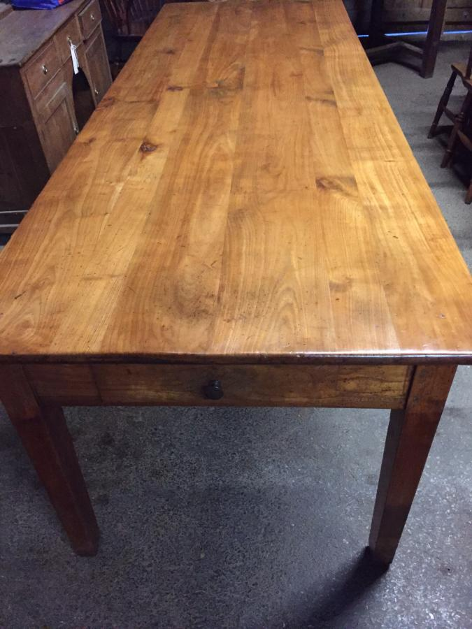 8ft Antique Cherry French Farmhouse Table Antique Table