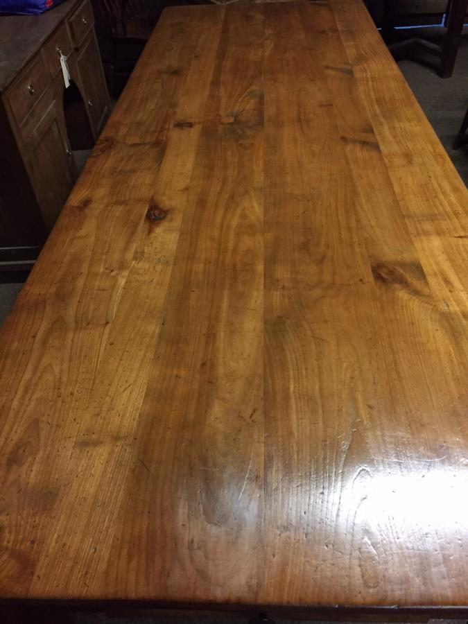 8ft Antique cherry French farmhouse table