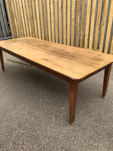 8ft antique oak farmhouse table