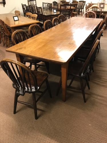 9ft cherry Farmhouse table