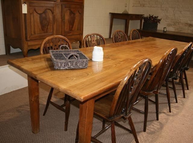 A late 19th Century 2 Plank Elm Table