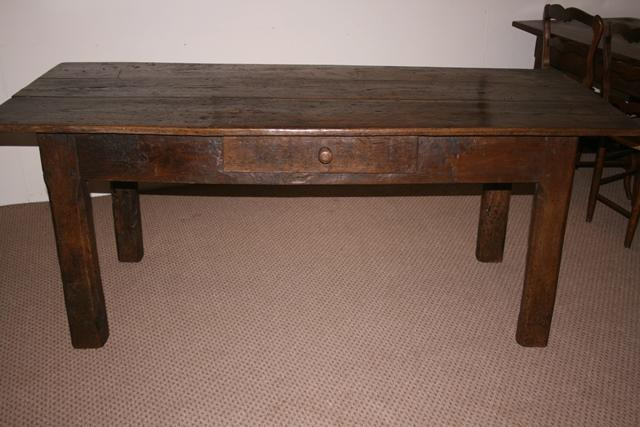 Rustic Oak Antique 18th Century French Farmhouse table