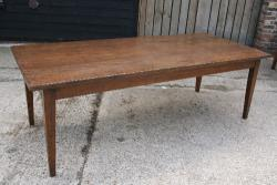 A superb wide oak farmhouse table