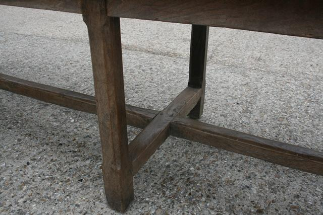 A wonderful imposing elm refectory table