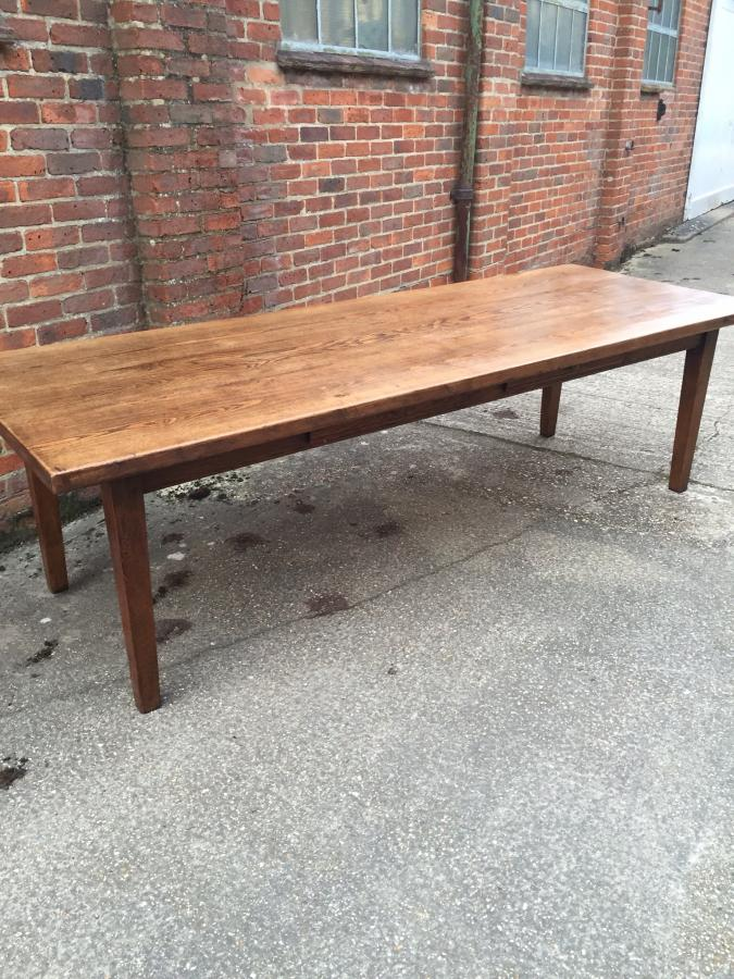 An lovely thick top Ash three plank farm house table