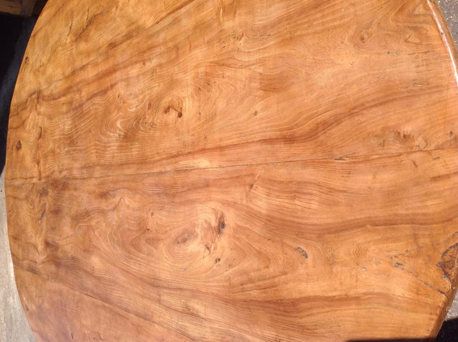 Antique oval elm figured table