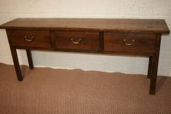 Antique 3 drawer oak French server
