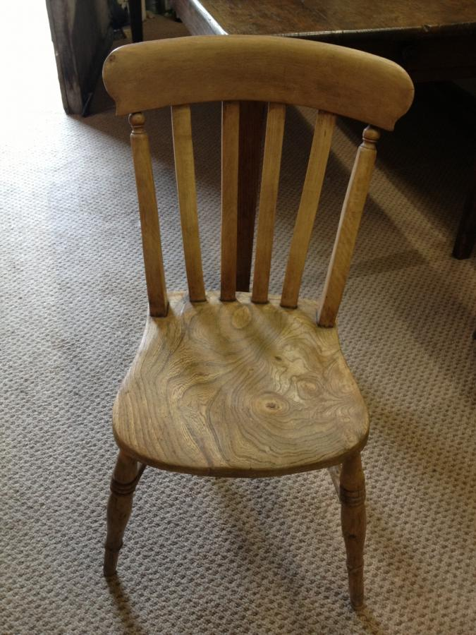 Antique 8 lath back chairs