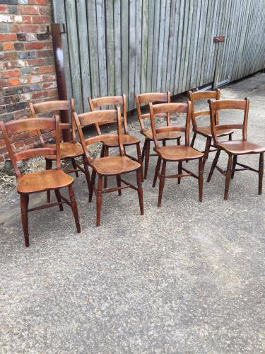 Antique bar back Oxford chairs