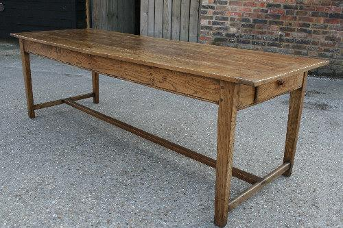 Antique Beech H/stretcher table