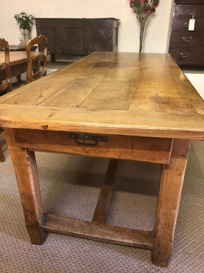 Antique cherry refectory table.