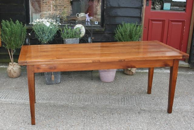 Antique Cherry Single draw leaf table