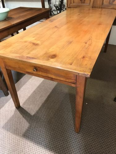 19th Century Cherry Dining Table With Slide