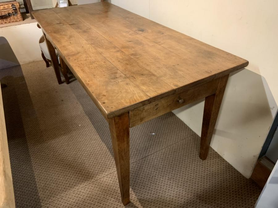 Antique Cherry Tapered leg Farmhouse Table