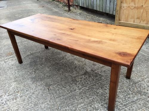 Antique Cherry thick top dining table