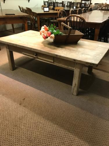 Old rustic coffee table