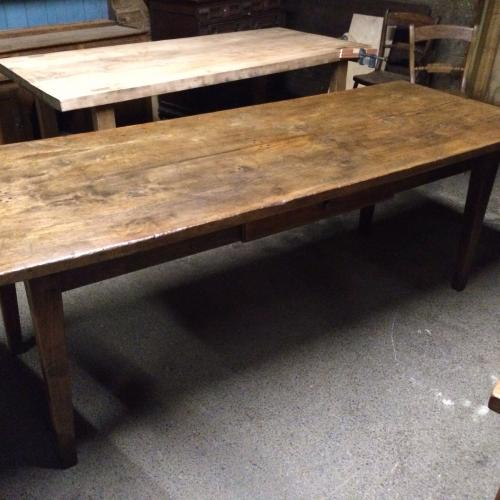 Antique elm French farmhouse table