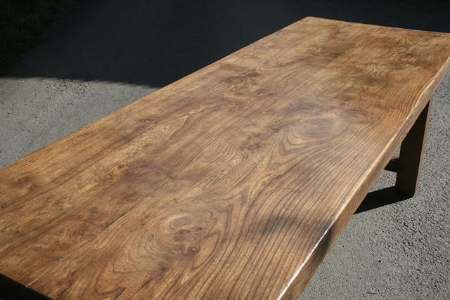 Antique Elm Normandy Table