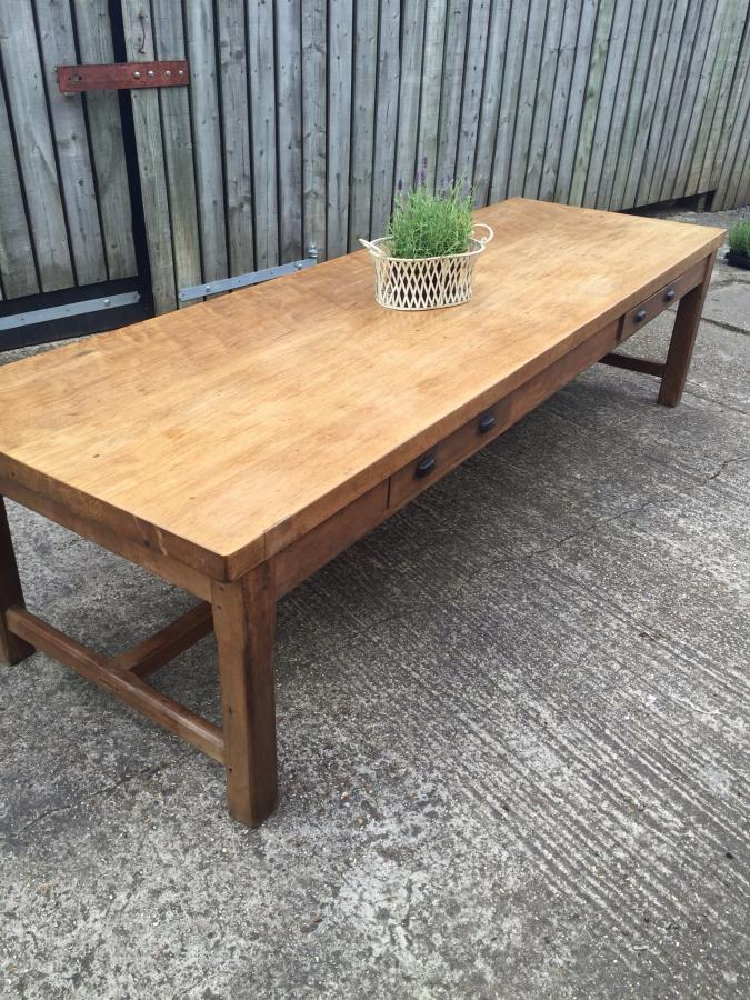Very large antique French farmhouse table 1890