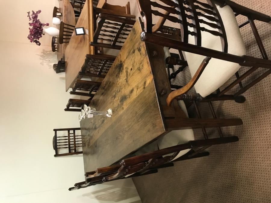 Antique Late 19th Century Oak Farmhouse Table