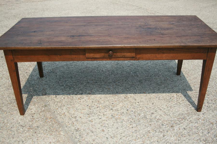 Antique oak chestnut table tables 1m to 2m for Table exterieur 1m